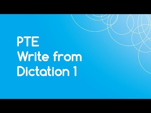 PTE Write from Dictation 1 with Answers