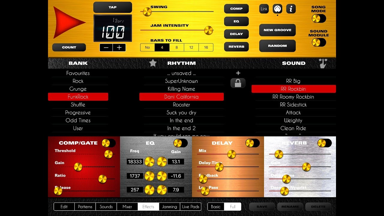 rock drum machine 5 update demo tutorial for the ipad youtube. Black Bedroom Furniture Sets. Home Design Ideas