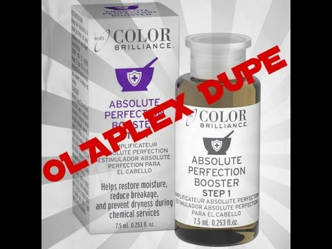 How to use Ion Absolute Perfection Booster(OLAPLEX DUPE) As A Stand Alone Treatment