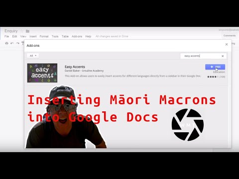Inserting Māori macrons into Google Docs with Easy Accent