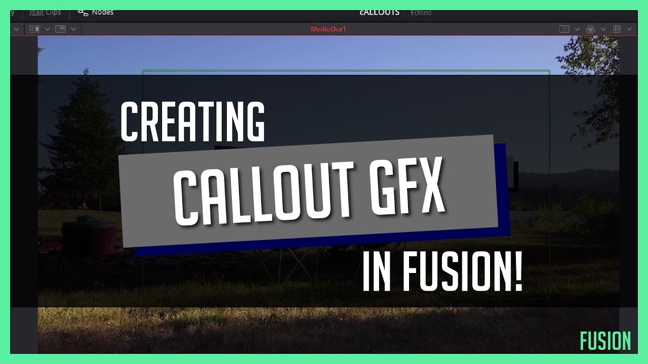 Creating Callout Graphics In Fusion Davinci Resolve 15 Youtube
