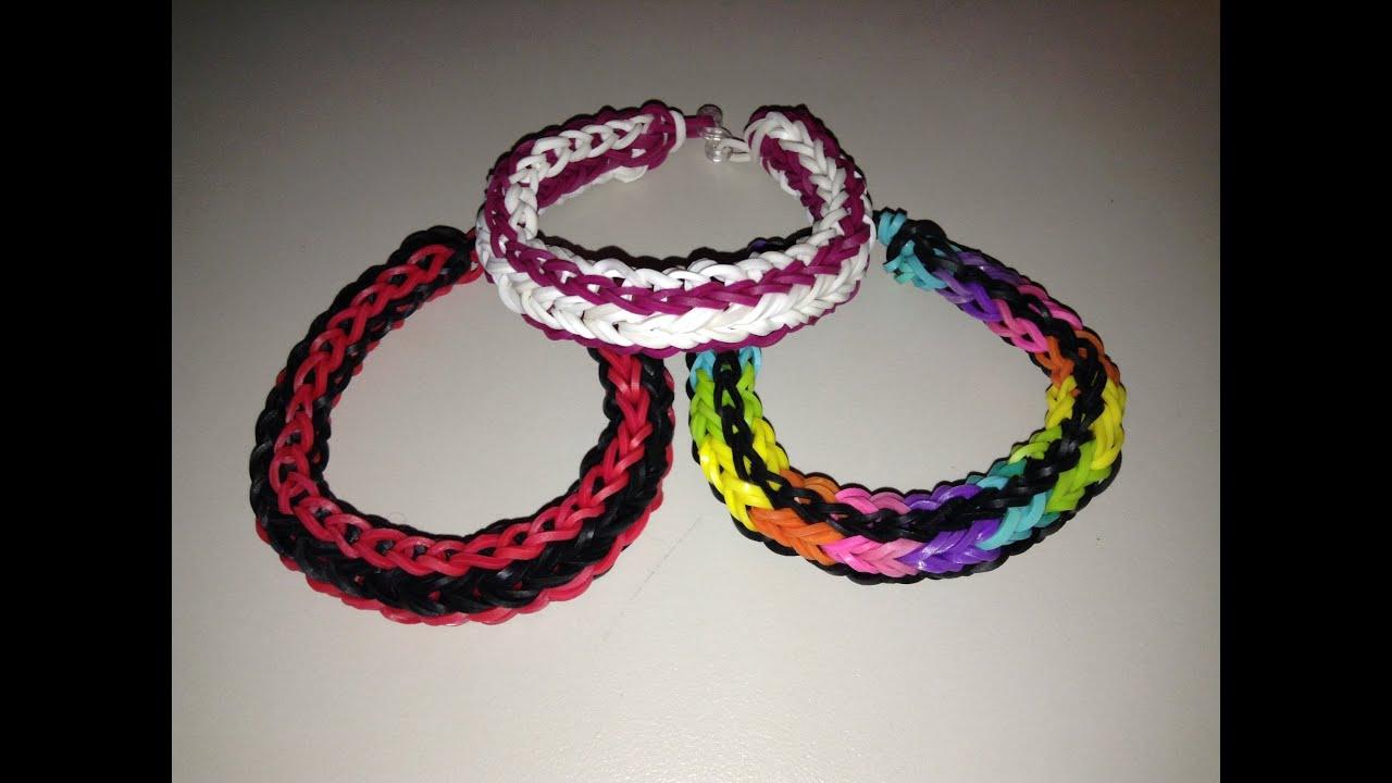how to make a triple loom bracelet by hand