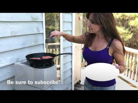 Crazy new rocket stove made from 4 cinder blocks! READ WARNING BELOW!