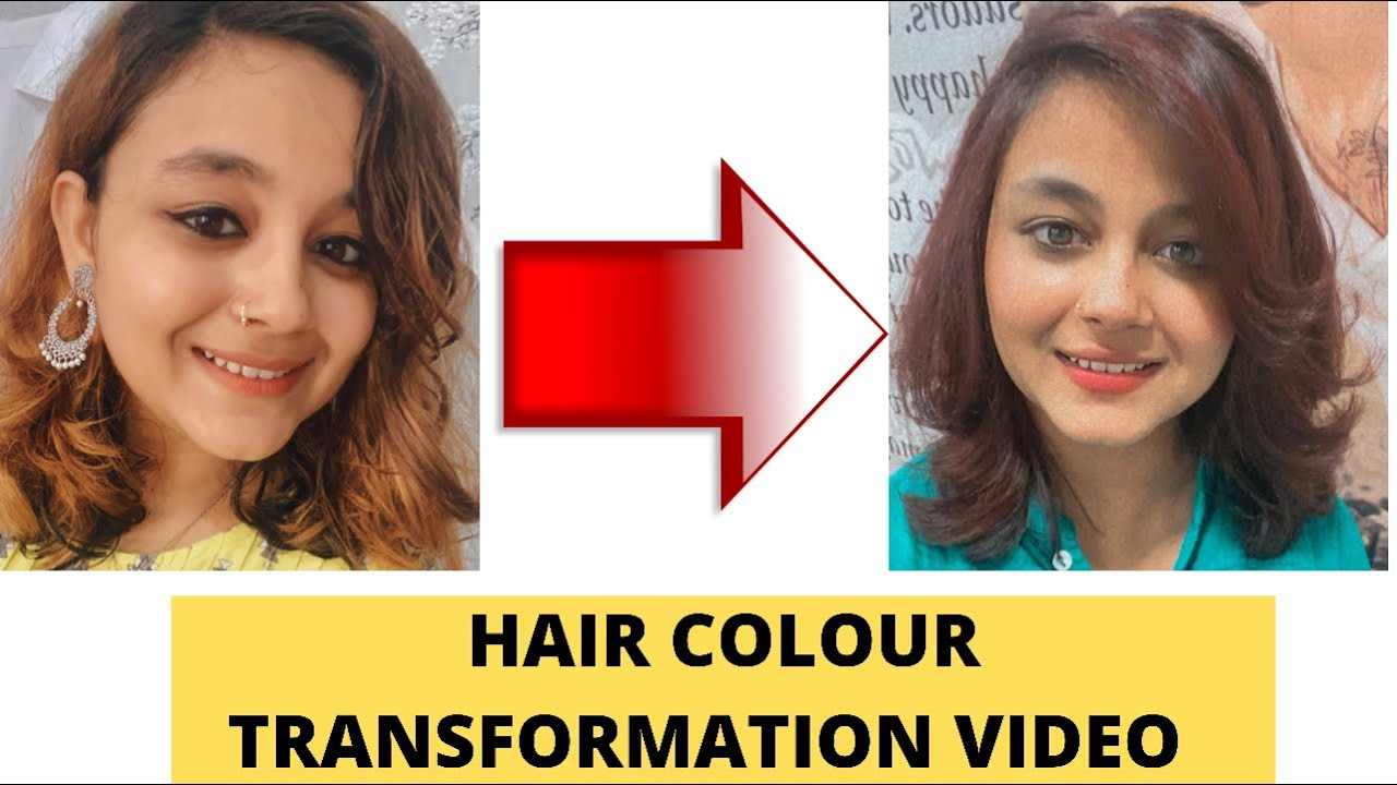 Hair Colour Transformation at Jawed Habib  Golden to Reddish Brown Colour Sobia Fatima MBBS #shorts