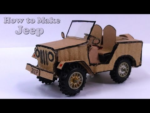 How to make High Speed a Jeep from Cardboard