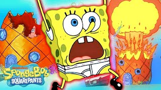 Pineapple-pocalypse! 🍍💥 Every Time SpongeBob's Pineapple House Was Destroyed