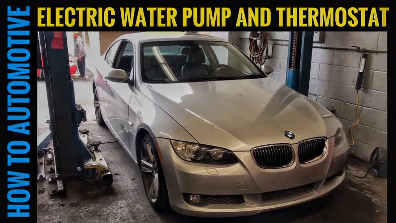 How to replace the electric water pump and thermostat on a 2006 2013 bmw 335i