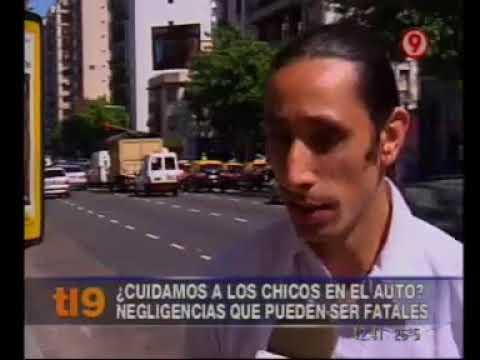 2011 - Telenueve - Axel Dell' Olio sobre cómo viajan los chicos en auto