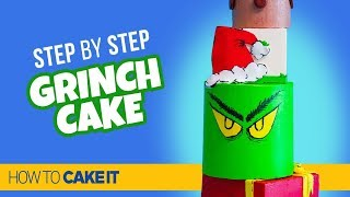 How To Make a FIVE TIER Grinch Cake by Sam Lapointe | How To Cake It Step By Step