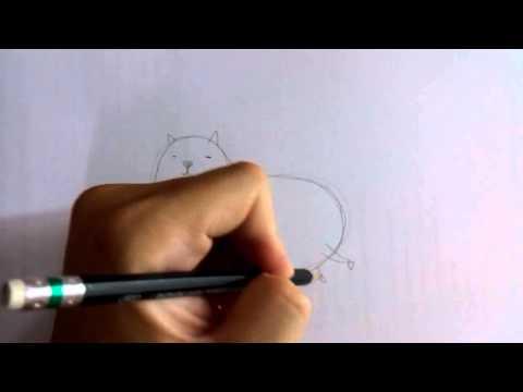 สอนวาดรูปการ์ตูน แมวอ้วน กวนๆ น่ารัก โดย วาดการ์ตูนกันเถอะ