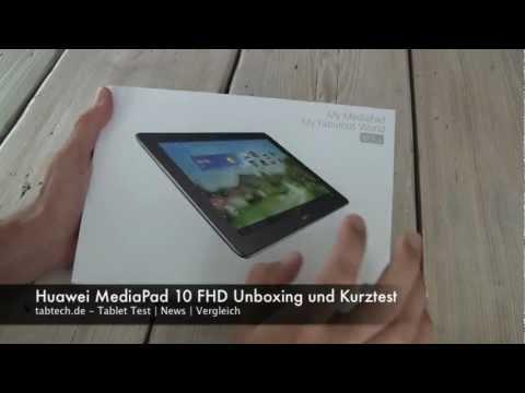 Huawei MediaPad 10 FHD Unoxing und Kurztest