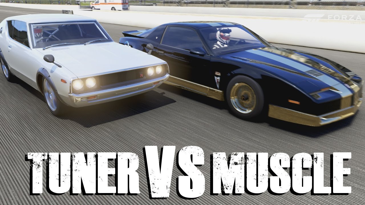 Muscle Vs Tuner Forza Top Gear Challenge Youtube
