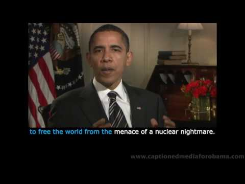 Pres. Obama's April 11 Address - KARAOKE CAPTIONING & CHINESE Bilingual