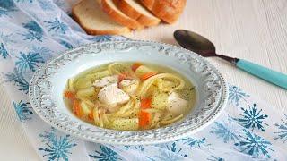 ВСЕ ДОВОЛЬНЫ! 💖 Суп лапша с курицей и картошкой 👍 ПО ДОМАШНЕМУ ВКУСНО!