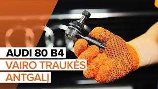 Montavimo Skersinės vairo trauklės galas videoinstrukcija AUDI 80