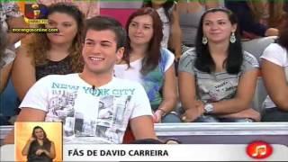 David Carreira no Você na TV 18 10 2011   Morangos Online   O teu site sobre a série Morangos Com Aç