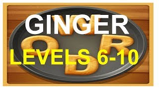 Word Cookies Ginger Level 6-10 answers