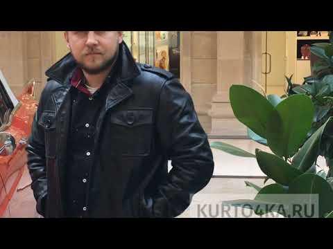 Мужская кожаная весенняя куртка MV91