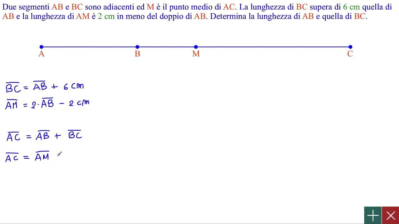 Geometria Problemi Su Segmenti Adiacenti Determinare Le Lunghezze