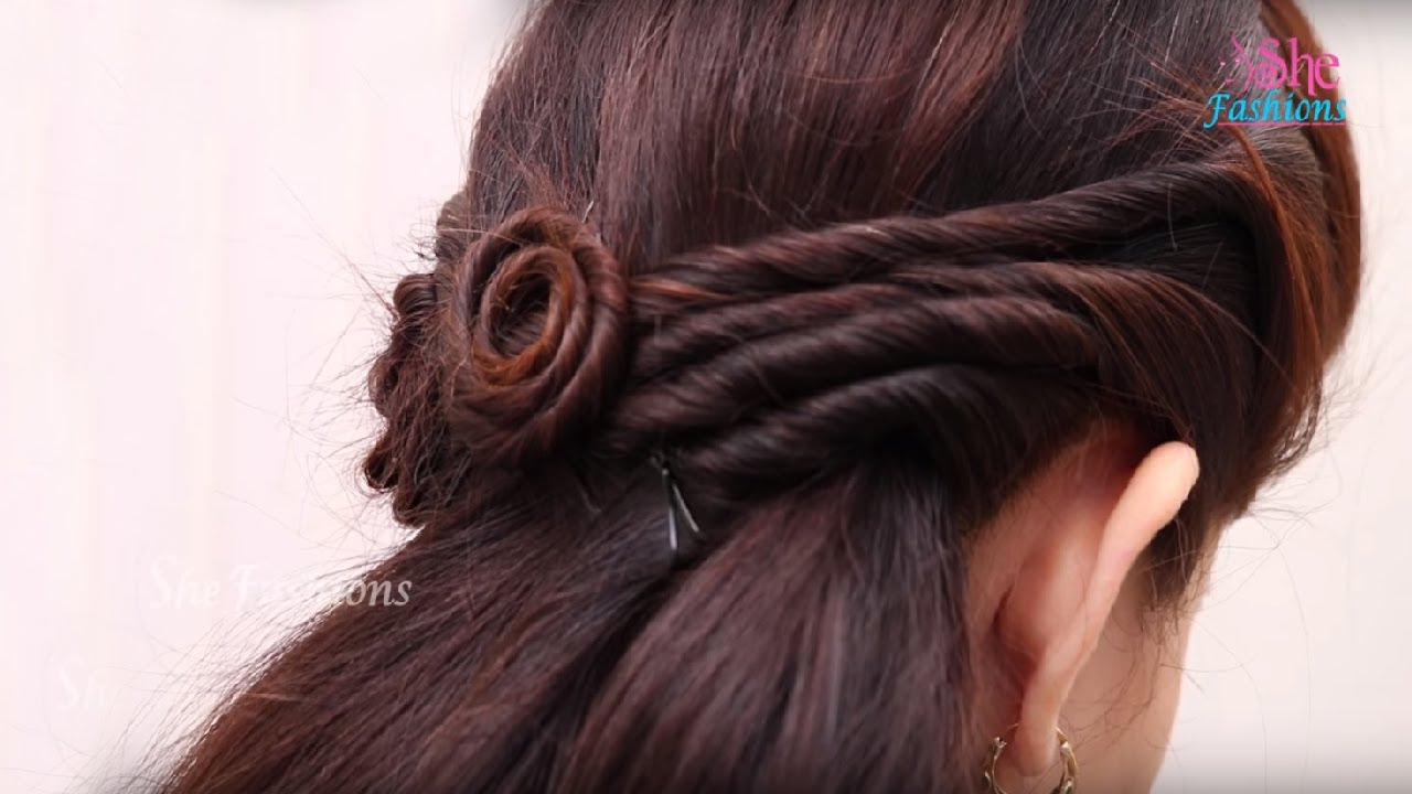 Hair Style Videos Entrancing Easy Hair Style For Long Hair  Ladies Hair Style Videos 2017 .