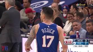 JJ Redick | Highlights vs Grizzlies (3.21.18)