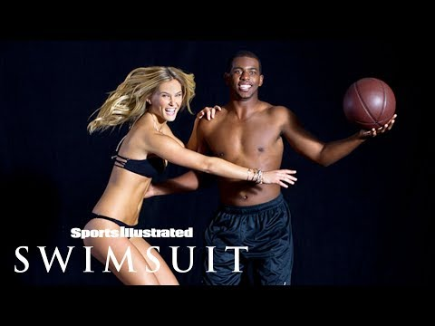 Rockets † Chris Paul Gets Playful With Bar Refaeli In Exclusive Shoot | Sports Illustrated Swimsuit