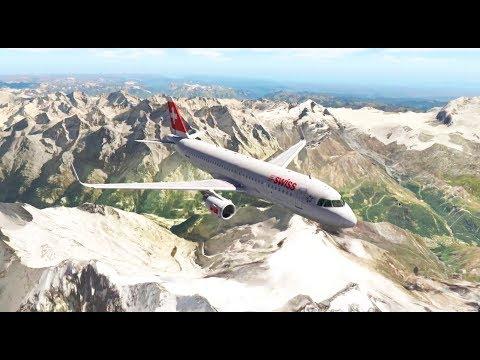LIVE ✈️ X-Plane 11   SWISS   INNSBRUCK (LOWI) to GENEVA (LGSS) LIVE FLIGHT HD