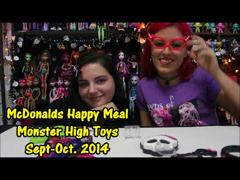 Monster High McDonalds Happy Meal Toys Sept-Oct. 2014