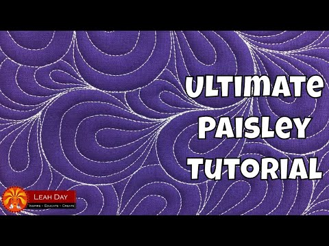 How to Quilt Paisley! Quilting on a Home Machine and Longarm Frame