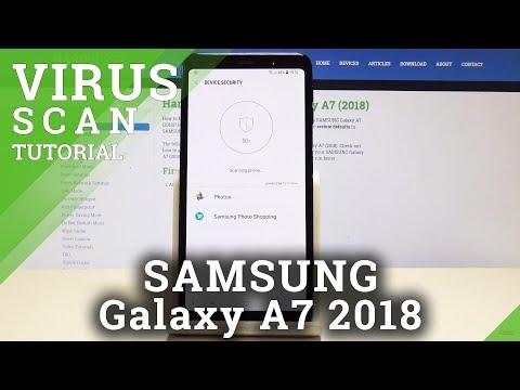 How To Virus Scan SAMSUNG Galaxy A7 (2018) - Security Scan / Galaxy Antivirus