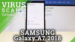 How to Virus Scan SAMSUNG Galaxy A7 (2018) - Security Scan / Galaxy Antivirus