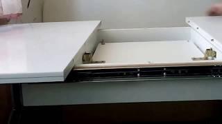 Кухонный стол Аспен К (6199) КМ(Стол Аспен К (6199) КМ - прямоугольный раздвижной стол. Столешница выполнена из ламинированного ДСП, поверх..., 2015-12-29T14:25:13.000Z)