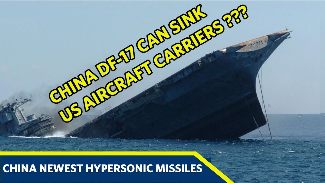 Here's How China DF-17 Hypersonic Missiles Can Sink US Aircraft Carriers -  YouTube