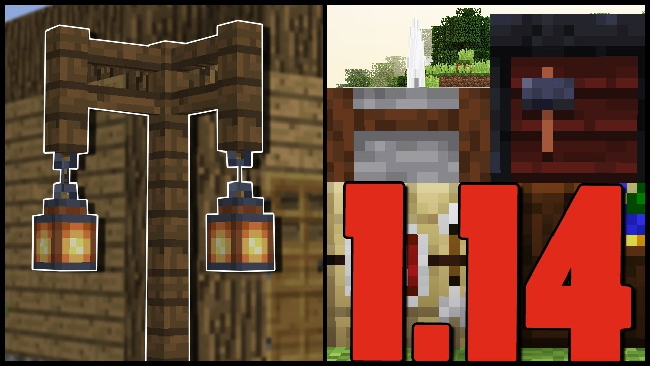 Minecraft 1 14 Lampas Uj Texturak Snapshot 18w46a Youtube