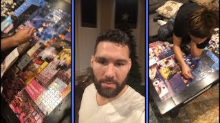 Chris Weidman and Wife Up Late Doing Huge Puzzle