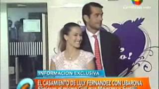Luli Fernández se casó con Cristian Cúneo Libarona