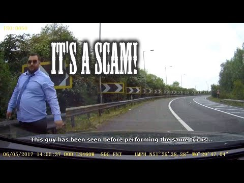 Beware Of The Petrol & Rings Roadside Scam! UK Footage