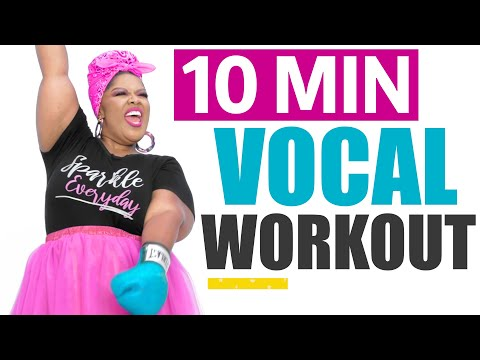 Quick 10 Minute VOCAL WORKOUT! Vocal Exercise (subtitles)