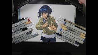 How to draw Hinata Hyuuga from Naruto