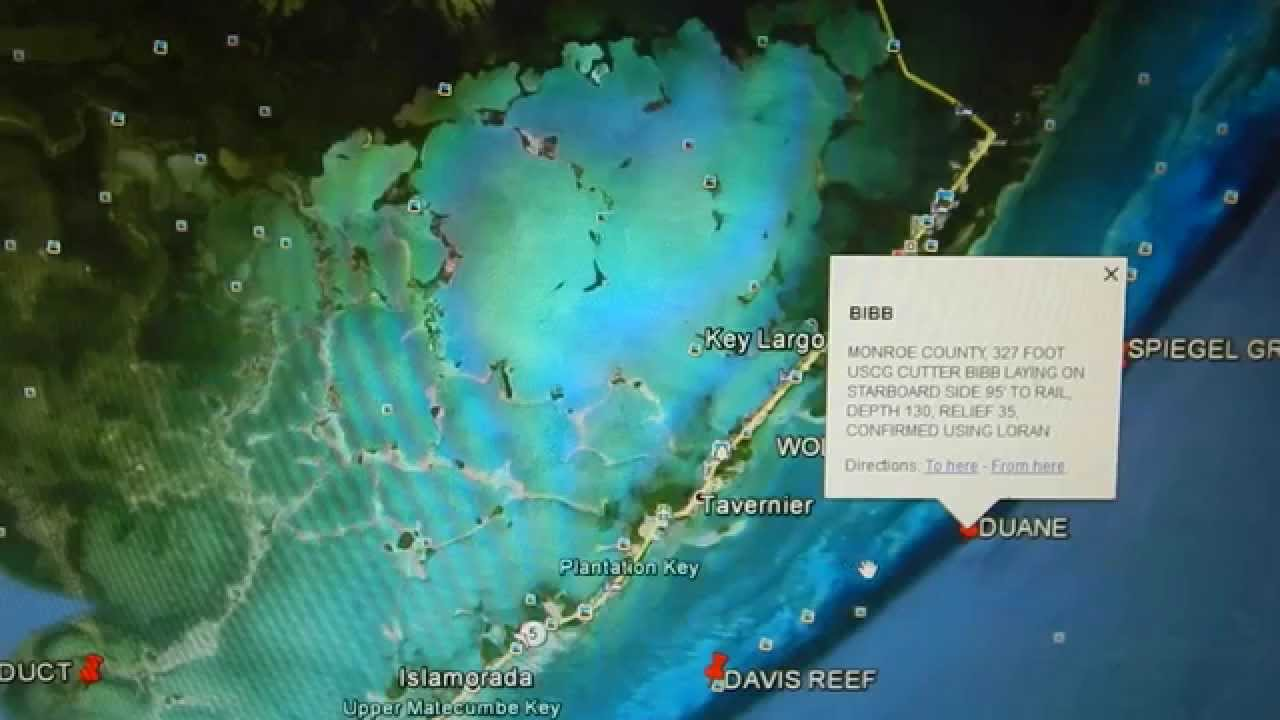 Google earth fishing florida keys reef overview youtube for Best fishing spots in the keys