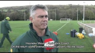 Springboks Training : Cardiff, Wales 4 Nov 2013