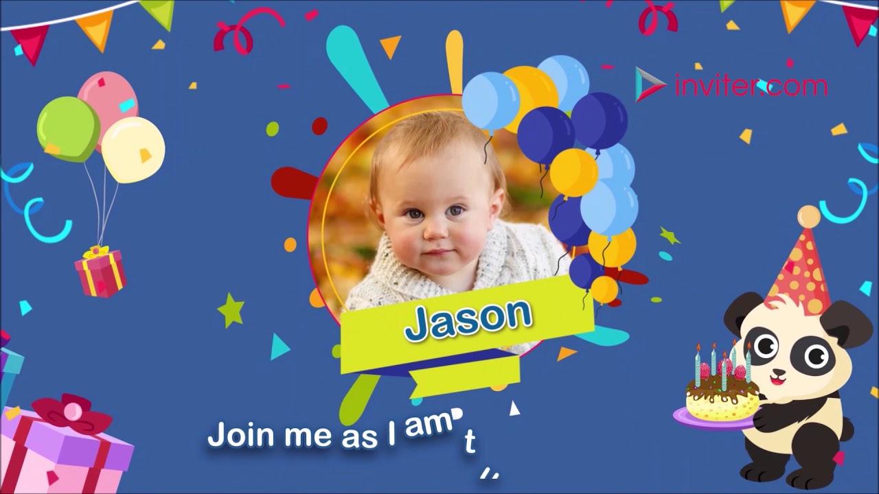 boy first birthday invitation video birthday video invitation inviter