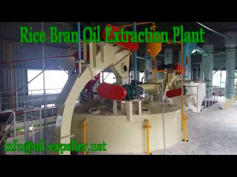 Rice Bran Oil Solvent Extraction Plant Mill