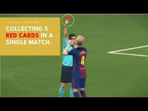 Collecting 5 Red Cards in Pro Evolution Soccer | Gamester Games.