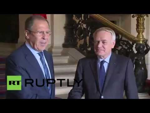 France: Lavrov meets French FM Ayrault in Paris