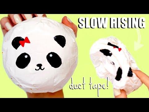 DIY DUCT TAPE SQUISHY | No stuffing, no memory foam panda bun