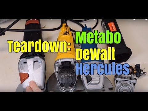 Teardown: Metabo angle grinder compared to DeWalt and Harbor Freight Hercules