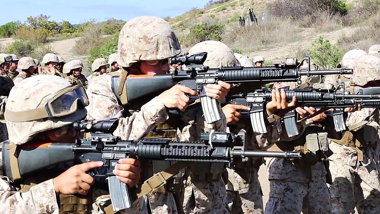 Marine Corps School of Infantry - Basic Marksmanship - YouTube