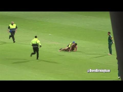 Streaker tackled at T20 Finals Day (at Edgbaston)