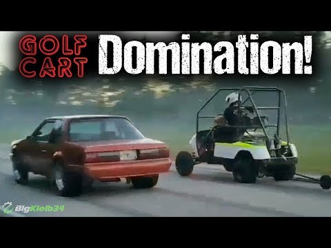 Modded Golf Cart Hustles ProCharged Corvette, Nitrous Fox Body, More!